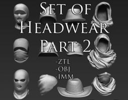 3d set of headwear part 2