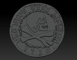 3D printable model Uncharted 4 Pirate Coin