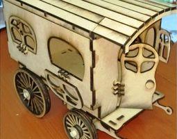 rickshaw Laser Cutting Plywood 3D print model