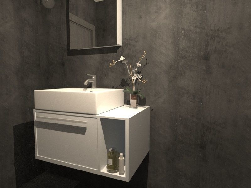MEUBLE SALLE DE BAIN 3D asset | CGTrader