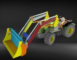 tractor scoop excavator traktor kepce 3D