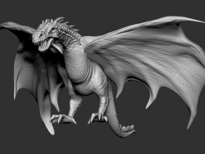 dragon 01 3d model obj mtl stl 1