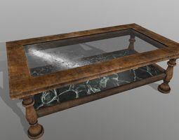 realtime 3d asset PBR wood  tablet