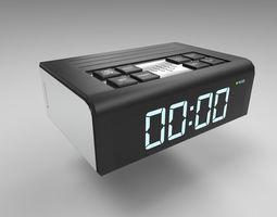 Alarm Clock Digital 3D model game-ready