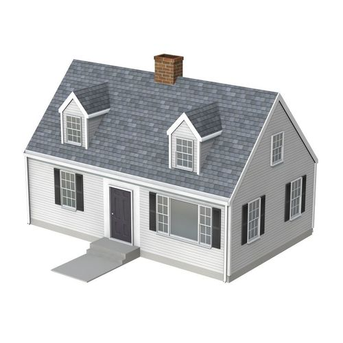 cape cod style house 3d model obj mtl fbx lwo lw lws blend 1
