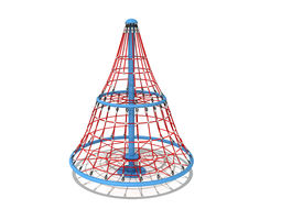 3D model kindergarten Rope Climber Playground Equipment
