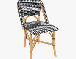 Patio Dining Side Chair 3D