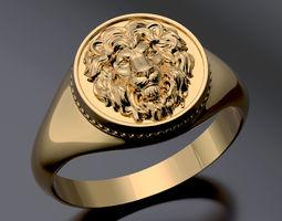 3D printable model lion ring cat