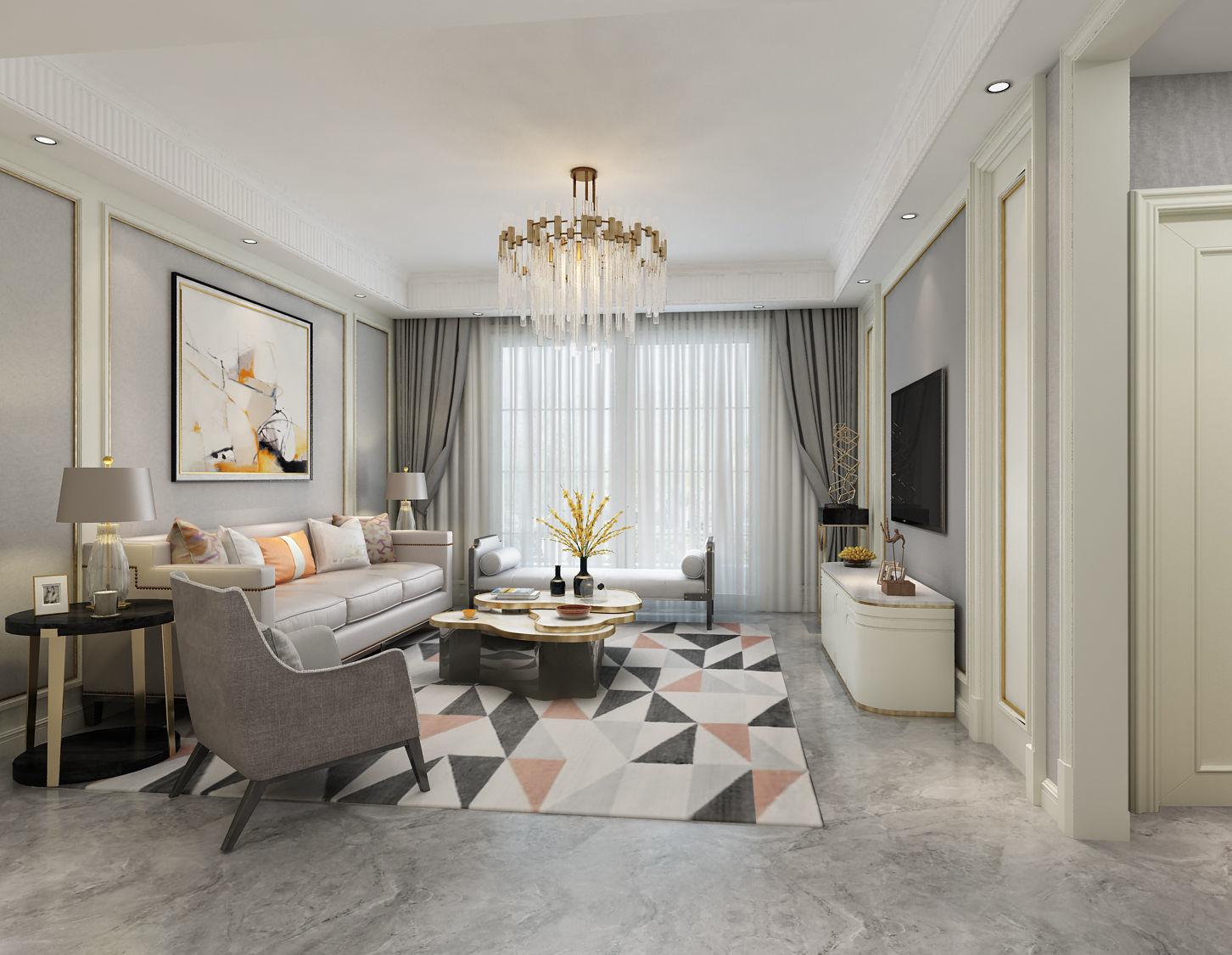 modern european living room | 3d model