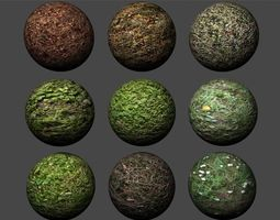 3D Ground Grass Pack 2