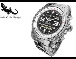 Breitling Chronospace Watch 3D