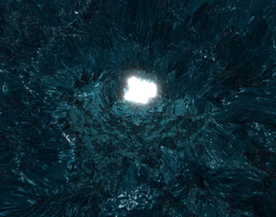 ice cave 3D cold