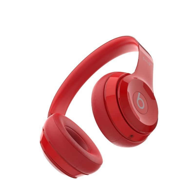 Beats Solo 2 Headphones Red 3d Model Cgtrader