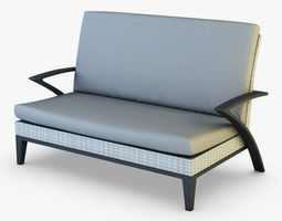 3d model rexus sofa white