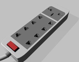 3D model power electrical strip connector