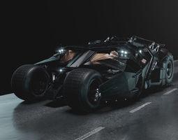 Batmobile Tumbler 3D model tumbler