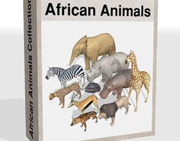 African animals 3D Model