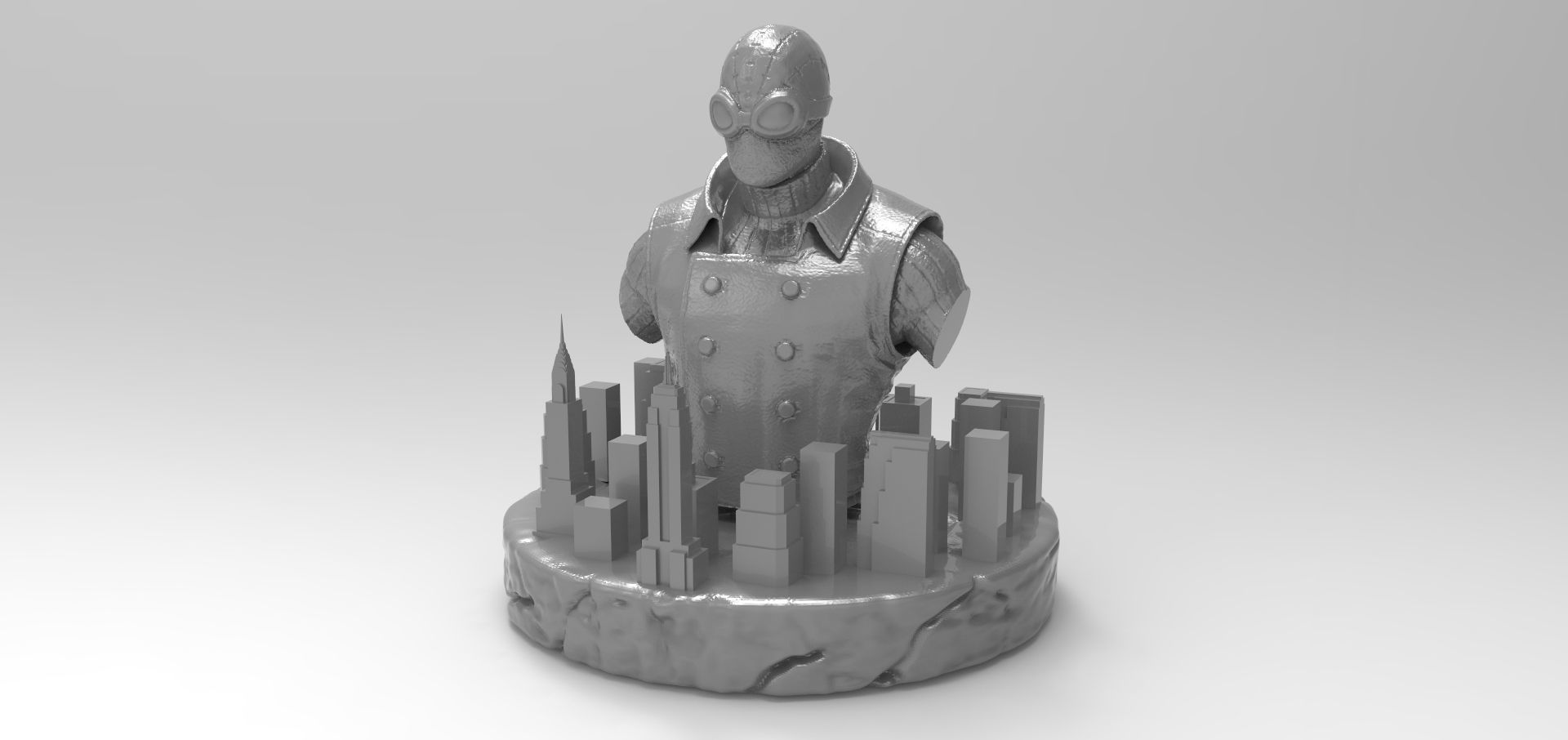 spider-man noir bust 3d printable model | cgtrader