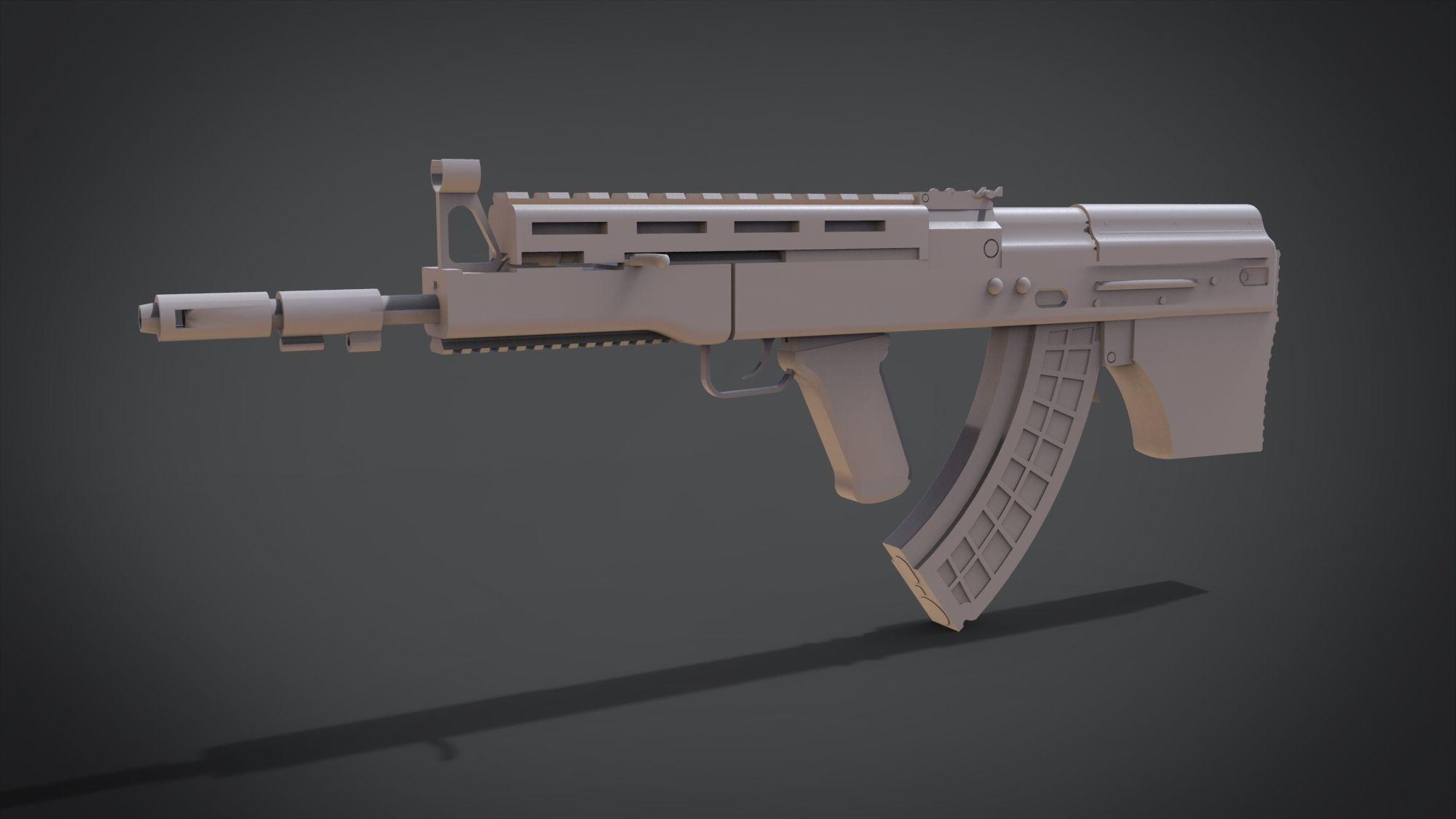 MW2 Vepr | 3D Print Model