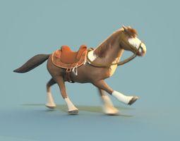 3D model animated Cartoon Horse