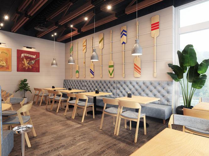 industrial restaurant  in caribean island 3d model max obj mtl fbx 1