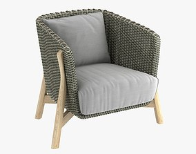 3D ROUND Club armchair by point 1920