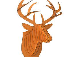 Bucky Cardboard Deer Head 3D