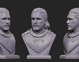 3D printable model Jon Snow bust 2