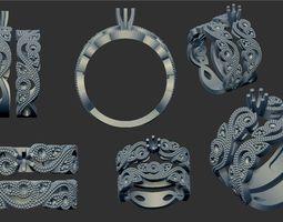 3D print model engagement double ring
