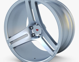 vossen vps-317 19 wheel silver 3d model