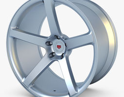 vossen vps-303 19 wheel silver 3d model