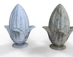 Ornamental Pineapple concrete for buildings 3D