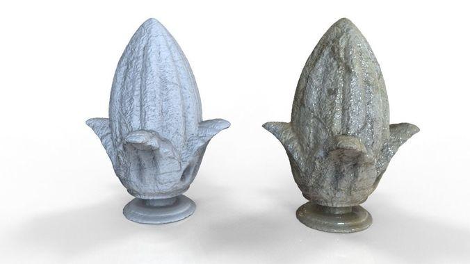 ornamental pineapple concrete for buildings 3d model obj mtl fbx stl dae ige igs iges stp 1