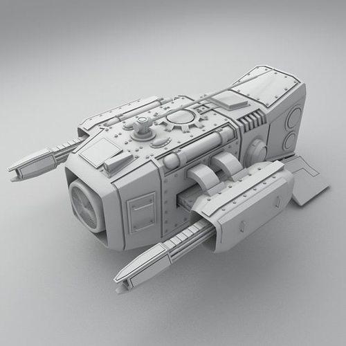 medium sentry drone 3d model max obj mtl fbx ma mb 1