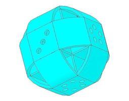 game present 3D print model Dice
