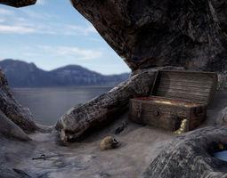 Pirate Treasure Environment 3D model