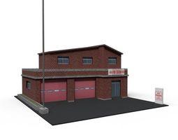 3D asset Cartoon Firestation