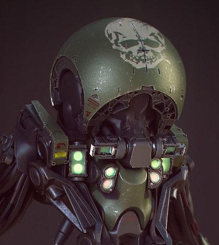 tadpole droid 3d model obj fbx 1