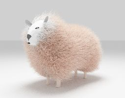 3D asset game-ready sheep