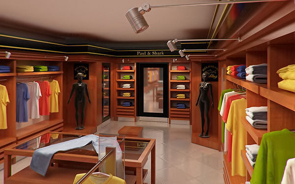Clothing Store interior for Men and Women Render Ready 3D model MAX