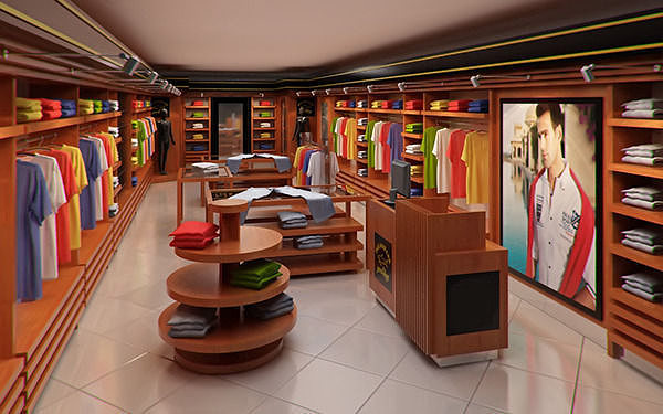 Clothing Store Interior For Men And Women Render Ready 3d