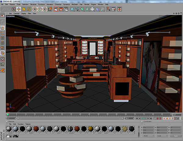 Clothing store interior for men and women 3d model - Men s clothing store interior design ideas ...