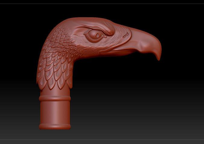 cane with eagle head