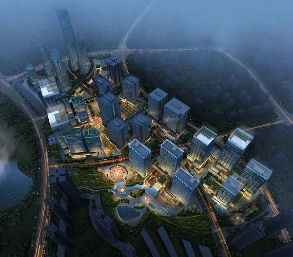 skyscraper business center 3d model max 1