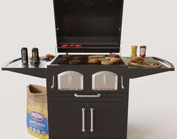 3d model bravo premium charcoal grill