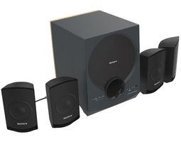 SONY SA D10 MULTI MEDIA SPEAKERS BLACK 3D model