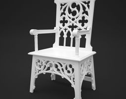 Gothic Chair 3D