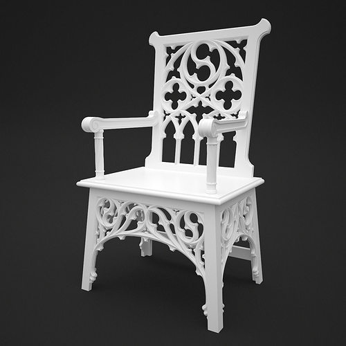 gothic chair 3d model max obj mtl 3dm 1