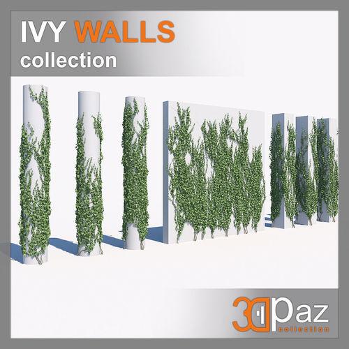 ivy set 01 3d model max fbx 1