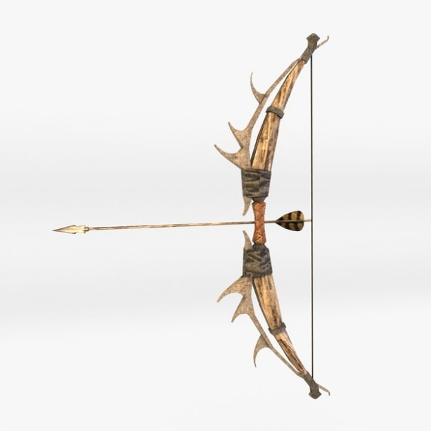 Fantasy Bow and Arrow 3D Model .max .obj .3ds .fbx .c4d - CGTrader.com